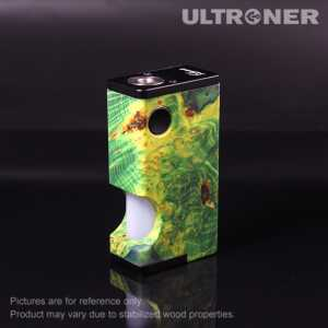 Ultroner Luna Squonk 80W BF Stabilized Wood Box Mod